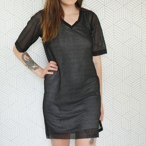 TopShop V-Neck Mesh T-Shirt Dress